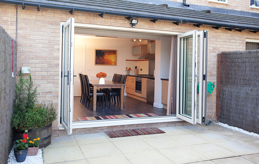 Bi fold doors romford essex upvc bifolding doors for Upvc folding doors